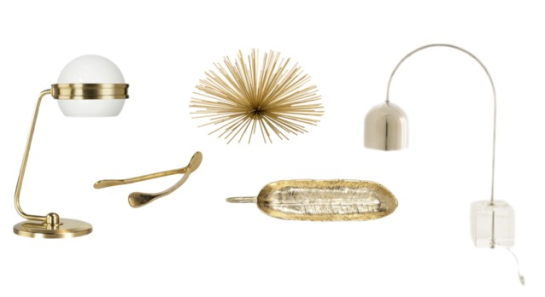 Gold, Brass, Home Accessories, Furbish, Wayfair, Jayson Home and Garden