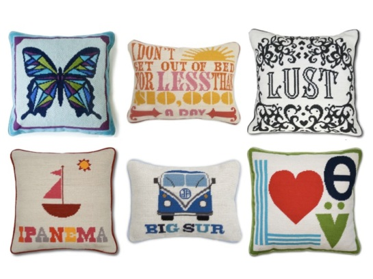 Jonathan Adler, Needlepoint, Pillows, Granny Chic
