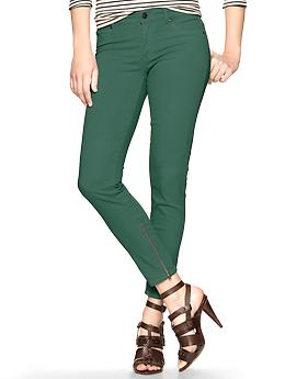 Gap Ankle Zip Legging Jeans Hunter Green